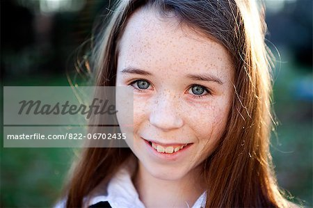 Portrait of Girl Smiling Stock Photo - Rights-Managed, Image code: 822-06702435