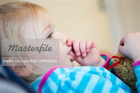 Girl Sucking Thumb Stock Photo - Rights-Managed, Image code: 822-06702500