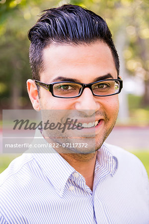 Portrait of Man Outdoors Smiling Stock Photo - Rights-Managed, Image code: 822-07117372
