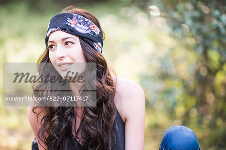 Young Woman Outdoors Stock Photo - Rights-Managed, Image code: 822-07117417