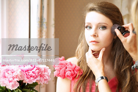 Teenage Girl Having Makeup Applied Stock Photo - Rights-Managed, Image code: 822-07117446