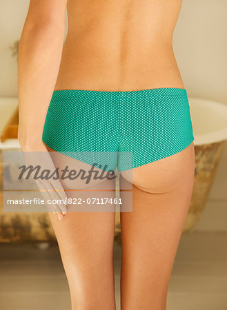 Back View of Woman Wearing Green Polka Dots Panties Stock Photo - Rights-Managed, Image code: 822-07117461