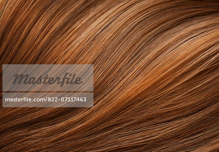 Extreme Close up of Auburn Hair Stock Photo - Rights-Managed, Image code: 822-07117463