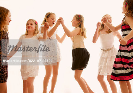 Group of Girls Dancing Stock Photo - Rights-Managed, Image code: 822-07117501