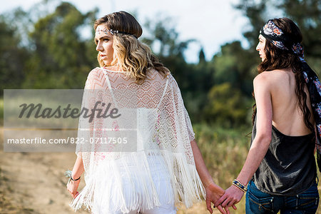 Back View of Two Women Outdoors Stock Photo - Rights-Managed, Image code: 822-07117505