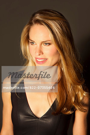 Portrait of Attractive Blonde Woman Stock Photo - Rights-Managed, Image code: 822-07355406
