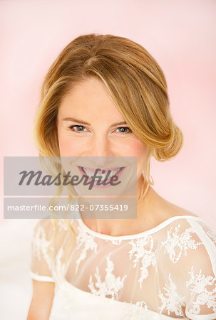 Portrait of Smiling Bride Stock Photo - Rights-Managed, Image code: 822-07355419