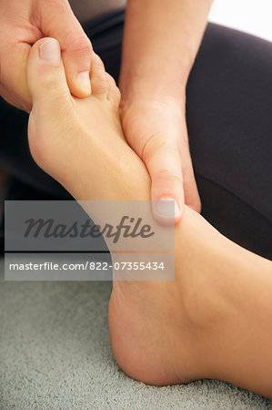 Woman Receiving Reflexology Treatment, Close-up View Stock Photo - Rights-Managed, Image code: 822-07355434