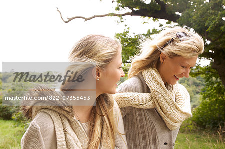 Mother and Daughter Walking in Countryside Stock Photo - Rights-Managed, Image code: 822-07355453