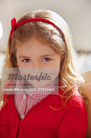 Portrait of Young Girl Stock Photo - Rights-Managed, Image code: 822-07355461