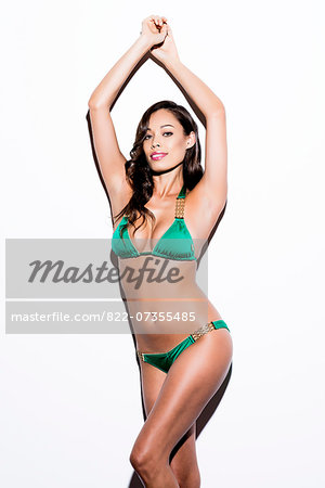 Woman Wearing Green Bikini Stock Photo - Rights-Managed, Image code: 822-07355485