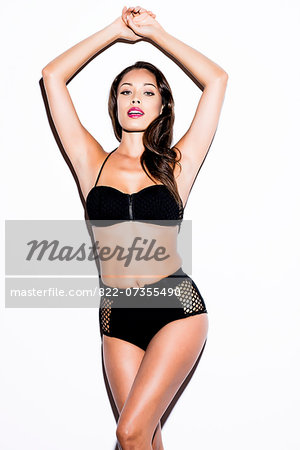 Woman Wearing Black Bikini Stock Photo - Rights-Managed, Image code: 822-07355490