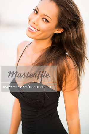 Close up of Smiling Woman Stock Photo - Rights-Managed, Image code: 822-07355510