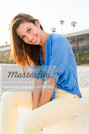Smiling Woman Outdoors Stock Photo - Rights-Managed, Image code: 822-07355552
