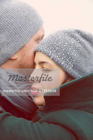 Couple Embracing, Close-up view Stock Photo - Rights-Managed, Image code: 822-07355648