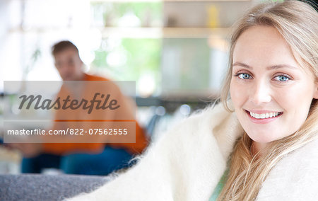 Smiling Young Woman Stock Photo - Rights-Managed, Image code: 822-07562555