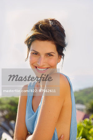 Smiling Woman Outdoors Stock Photo - Rights-Managed, Image code: 822-07562611