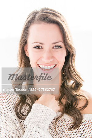 Portrait of Woman Smiling Stock Photo - Rights-Managed, Image code: 822-07562787