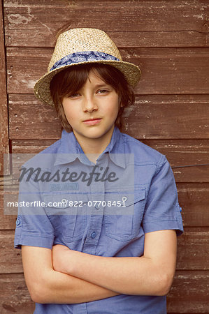 Portrait of Young Boy Stock Photo - Rights-Managed, Image code: 822-07708451