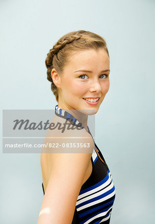 Portrait of Young Woman Smiling Stock Photo - Rights-Managed, Image code: 822-08353563