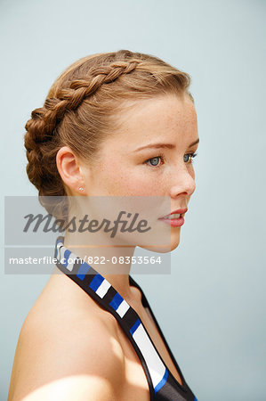 Profile of Young Woman Stock Photo - Rights-Managed, Image code: 822-08353564