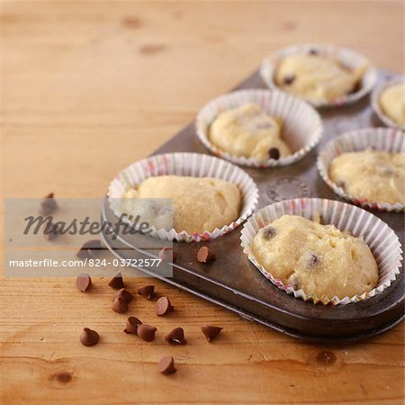Raw Muffin Mix Stock Photo - Rights-Managed, Image code: 824-03722577