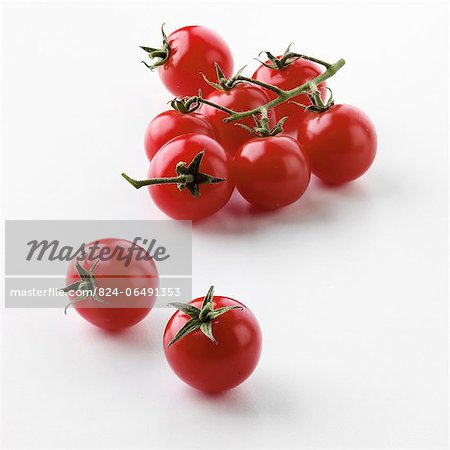 Cherry Tomatoes on the Vine Stock Photo - Rights-Managed, Image code: 824-06491353