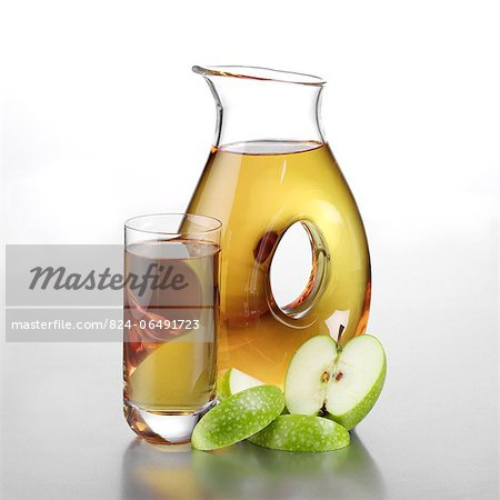 Jug of Apple Juice, Full Glass and Sliced Apple Stock Photo - Rights-Managed, Image code: 824-06491723