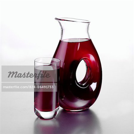 Jug of Blueberry Juice and a Full Glass Stock Photo - Rights-Managed, Image code: 824-06491733