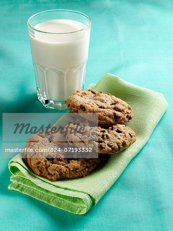Cookies and milk Stock Photo - Rights-Managed, Image code: 824-07193332
