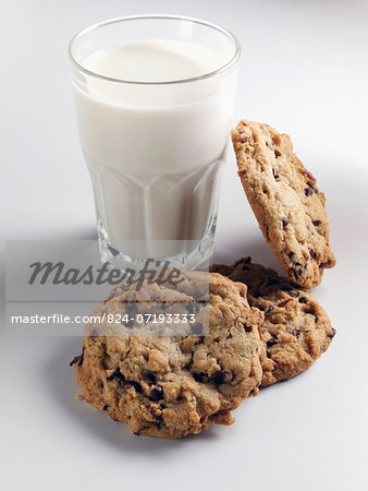 Cookies and milk Stock Photo - Rights-Managed, Image code: 824-07193333