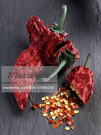 Smoked chilli chipotles Stock Photo - Rights-Managed, Image code: 824-07586136