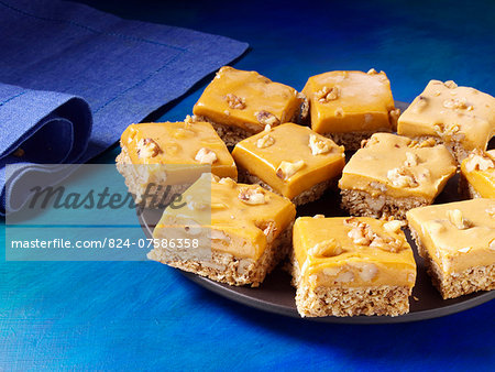 Pumpkin butterscotch bars Stock Photo - Rights-Managed, Image code: 824-07586358