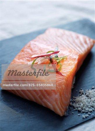 Raw piece of salmon