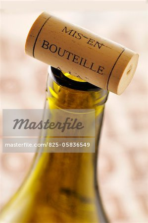 Cork on the top of the bottle Stock Photo - Rights-Managed, Image code: 825-05836549
