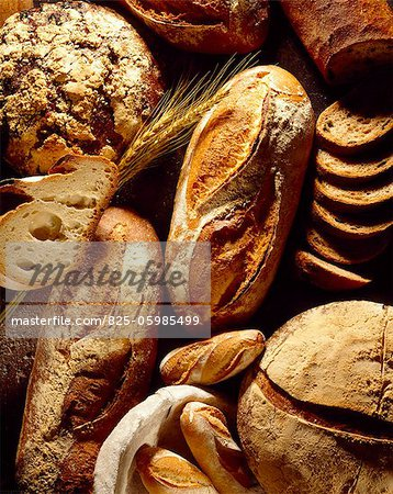 selection of bread Stock Photo - Rights-Managed, Image code: 825-05985499
