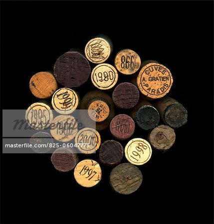 Composition with wine bottle corks Stock Photo - Rights-Managed, Image code: 825-06047773
