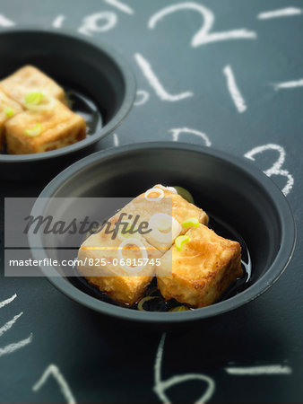Grilled tofu with soya sauce Stock Photo - Rights-Managed, Image code: 825-06815745