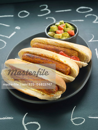 Vegan hot dogs Stock Photo - Rights-Managed, Image code: 825-06815747
