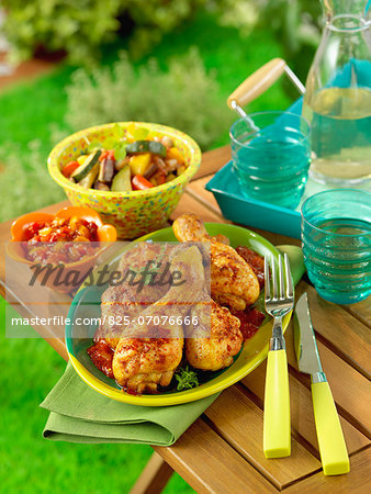 Grilled chicken with paprika Stock Photo - Rights-Managed, Image code: 825-07076666