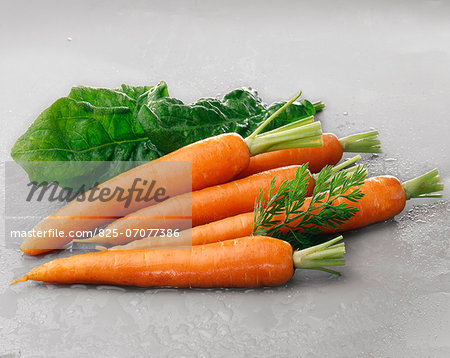 Carrots and spinach Stock Photo - Rights-Managed, Image code: 825-07077386