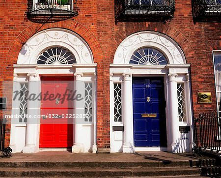 Georgian doors, Dublin, Co Dublin Ireland Stock Photo - Rights-Managed, Image code: 832-02252852