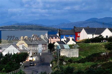 Eyries Village, Beara Peninsula, Co Cork, Ireland