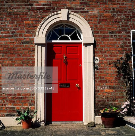 Georgian Door, Hillsborough, Co Down Stock Photo - Rights-Managed, Image code: 832-03232748