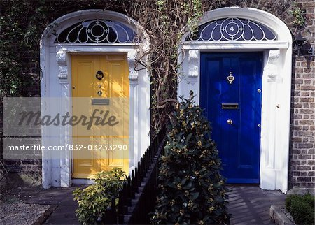 Dublin City, Ireland; Georgian style doorways Stock Photo - Rights-Managed, Image code: 832-03233290