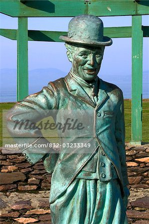 Waterville, County Kerry, Ireland; Charlie Chaplin statue