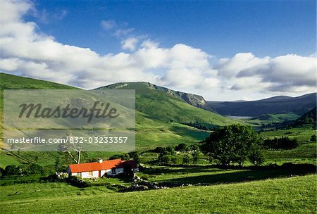 Co Wicklow, Ireland;  Cottage near Lough Dan Stock Photo - Rights-Managed, Image code: 832-03233357