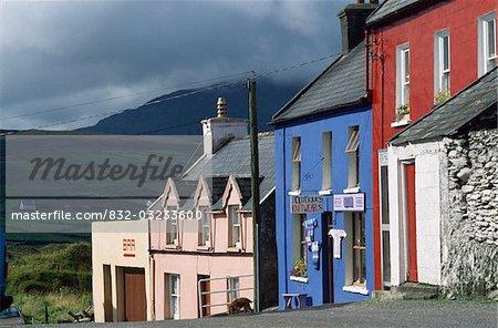 Eyries Village,Beara Peninsula,Co Cork,Ireland;Shopfronts in Eyeries village