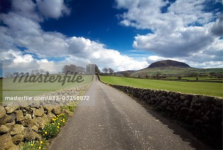 Country Road & Slemish Mtn, Co Antrim, Ireland Stock Photo - Rights-Managed, Image code: 832-03358872