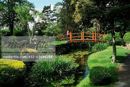 Kilkee, Co Kildare, Ireland; Japanese Gardens Stock Photo - Rights-Managed, Image code: 832-03640188